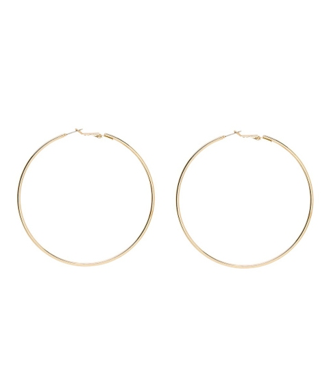 OVERSIZED GOLD HOOP EARRINGS