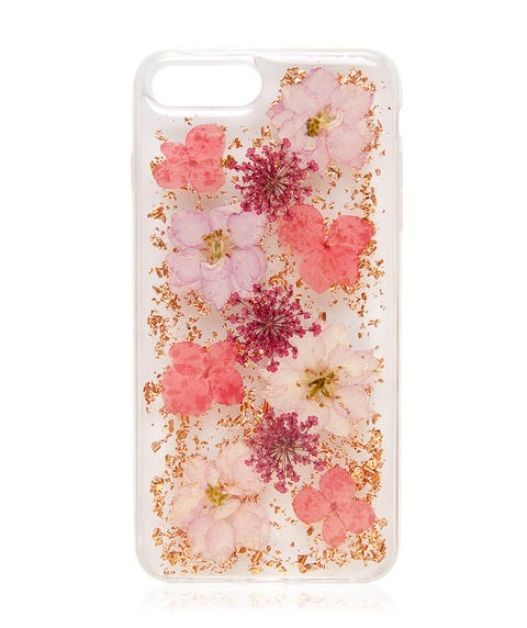 6+/7+/8+ PINK FLORAL PHONE CASE