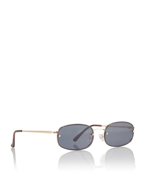 KIKI RECTANGULAR RIMLESS SUNGLASSES