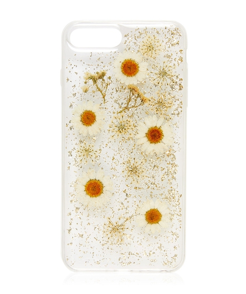 6+/7+/8+ WHITE FLORAL PHONE CASE