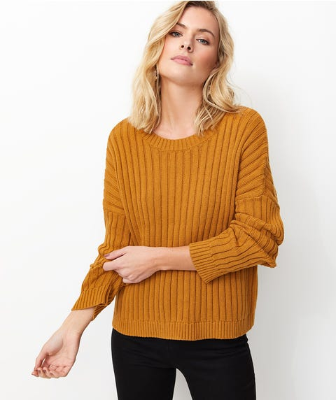 ROUND NECK RIBBED JUMPER
