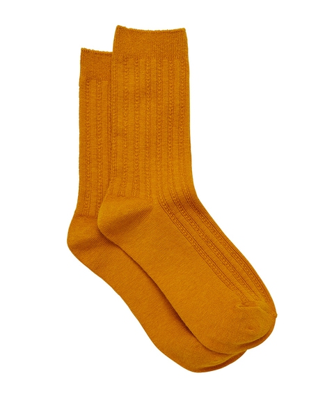 MUSTARD BACK TO BASICS SOCK