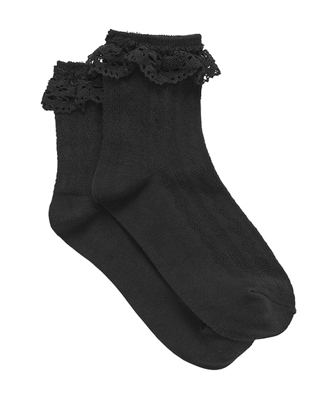 BLACK CROCHET SOCK