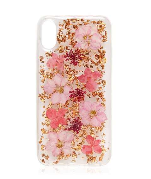 X/Xs PINK FLORAL PHONE CASE
