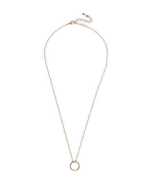 GOLD FINE SHORT CIRCLE NECKLACE