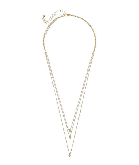 GOLD DIAMOND LAYERED NECKLACE