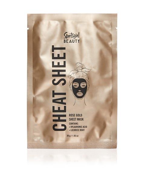 CHEAT SHEET – ROSE GOLD SHEET MASK