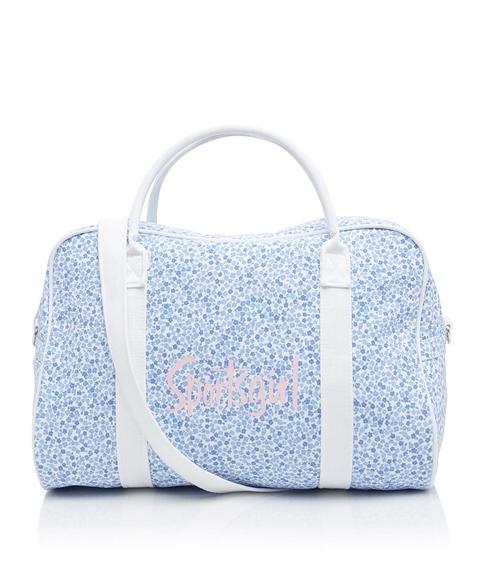 BLUE DITSY DUFFLE BAG