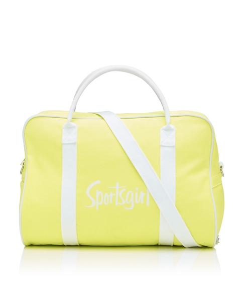NEON YELLOW DUFFLE BAG