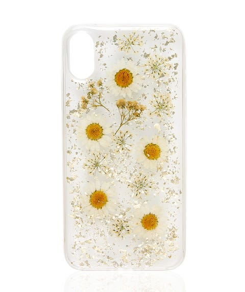 X/XS WHITE FLORAL PHONE CASE