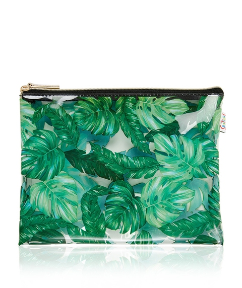 PALMS SINGLE ZIPPER BEAUTY BAG