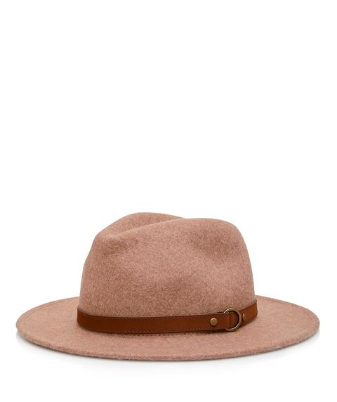 CAMEL MILEY FELT PANAMA HAT