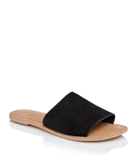 BONNIE LEATHER SLIDE SANDAL