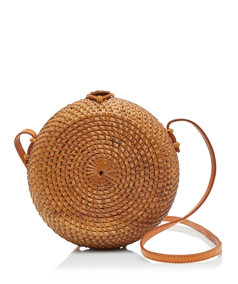 EDITH ROUND WOVEN SLING BAG