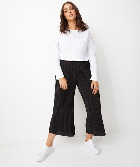 CRINKLE CROP PANTS