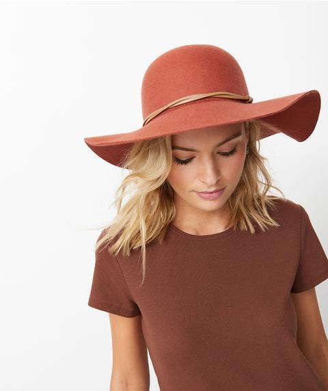 RUST FELT FLOPPY HAT