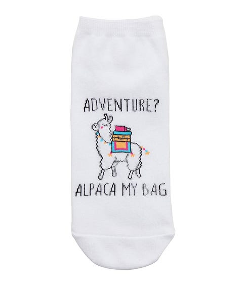 ADVENTURE? ALPACA MY BAG ANKLE SOCK