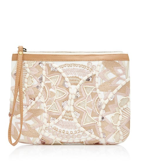 ALFIE EMBROIDERED CLUTCH BAG