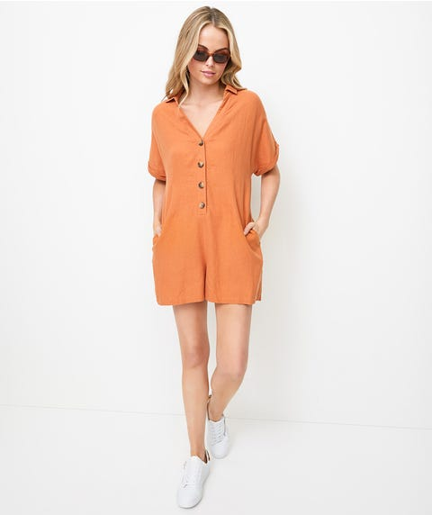 COLLARED PLAYSUIT