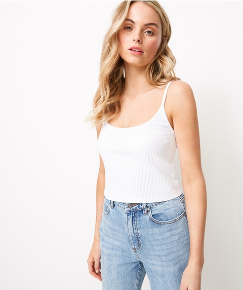 SCOOP CROP CAMI