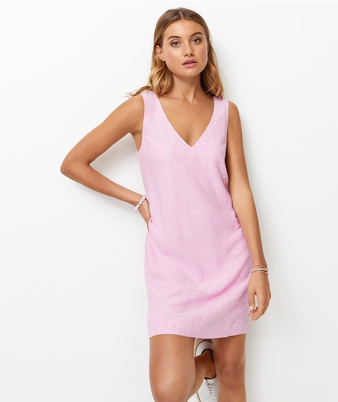 V NECK SHIFT DRESS