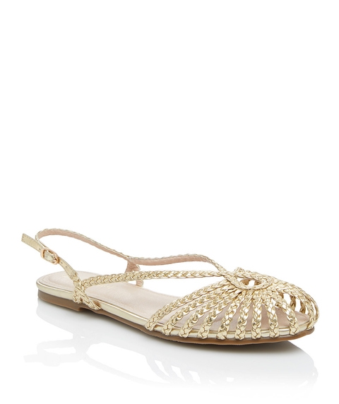 MARGOT METALLIC BRAIDED FLAT