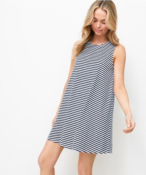 SLUBBY SWING DRESS