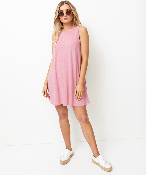 SLUBBY SWING DRESS