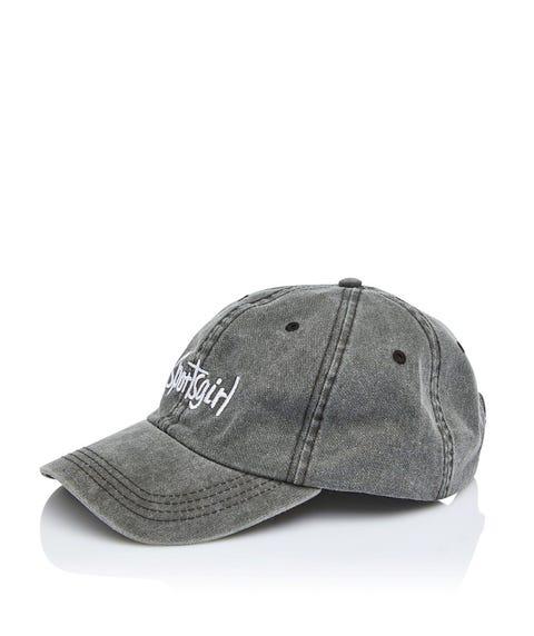 SPORTSGIRL CAP - WASHED BLACK