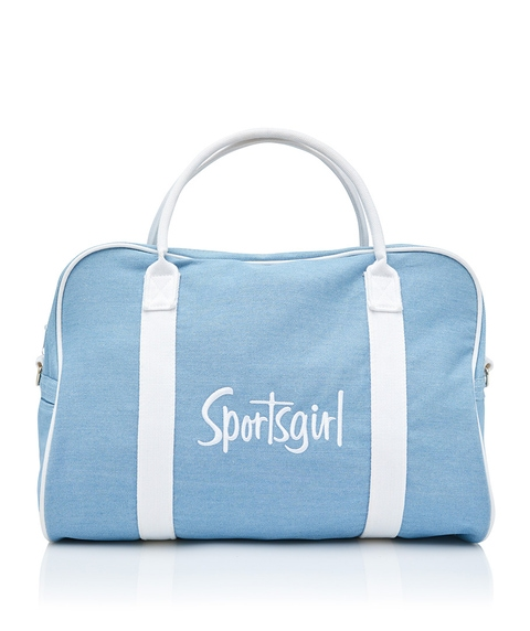 SPORTSGIRL EMBROIDERED DUFFLE BAG