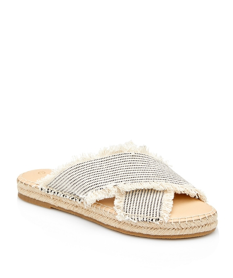 DANI FRAYED SLIDE SANDAL