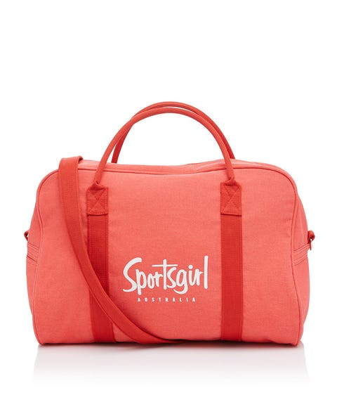 WASHED RED DUFFLE BAG