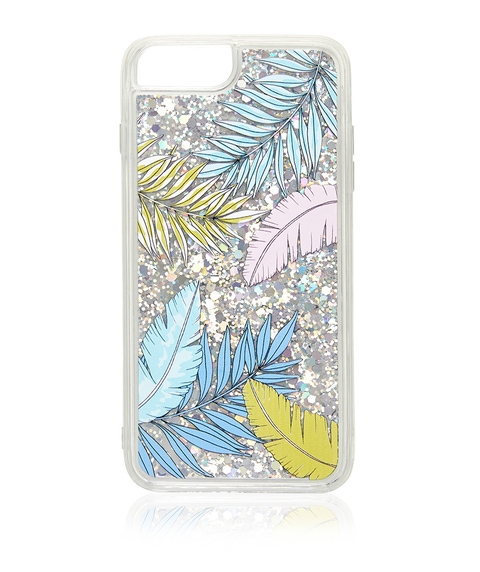 6+/7+/8+ FEATHER GLITTER PHONE CASE