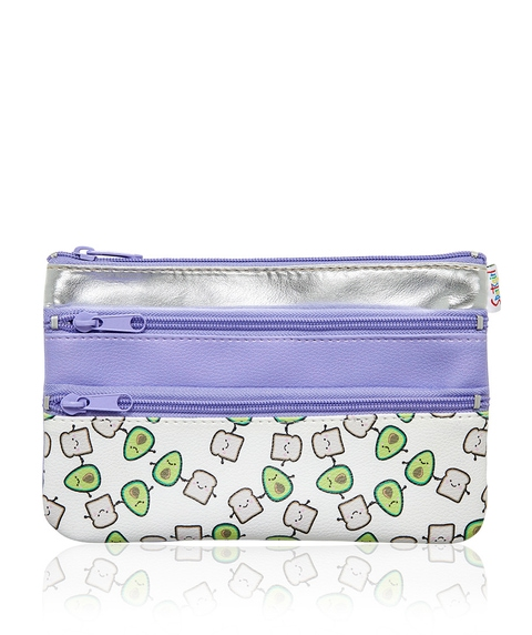 AVO & TOAST TRIPLE ZIPPER BEAUTY BAG