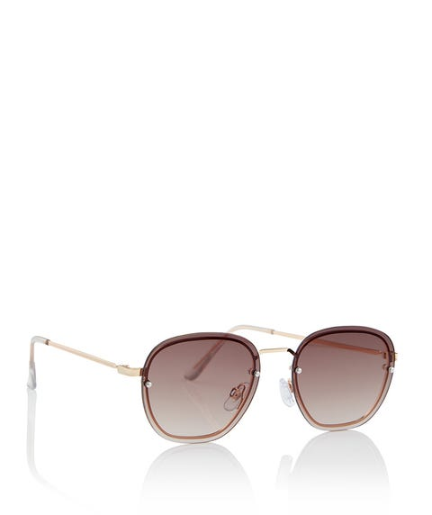 GOLD HARRIET SUNGLASSES