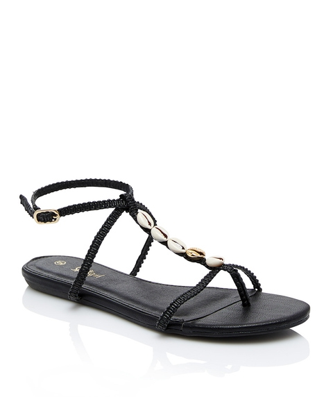 MARNIE BRAIDED SHELL SANDAL