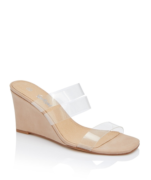 PRUDENCE CLEAR STRAP WEDGE