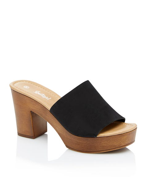 AVA LEATHER CLOG HEEL