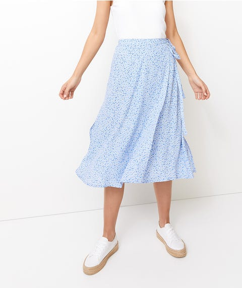 DITSY STRAIGHT WRAP SKIRT