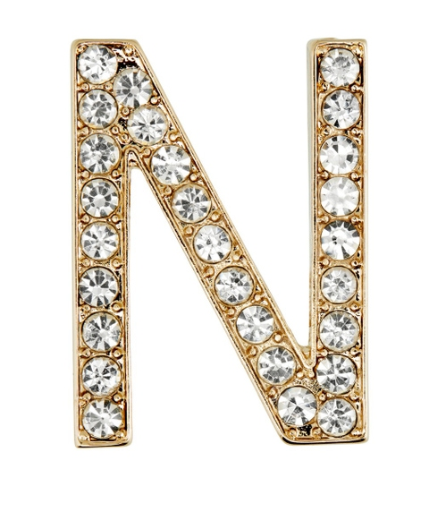 DIAMANTE LETTER PHONE STICKER R,G,H,N,D