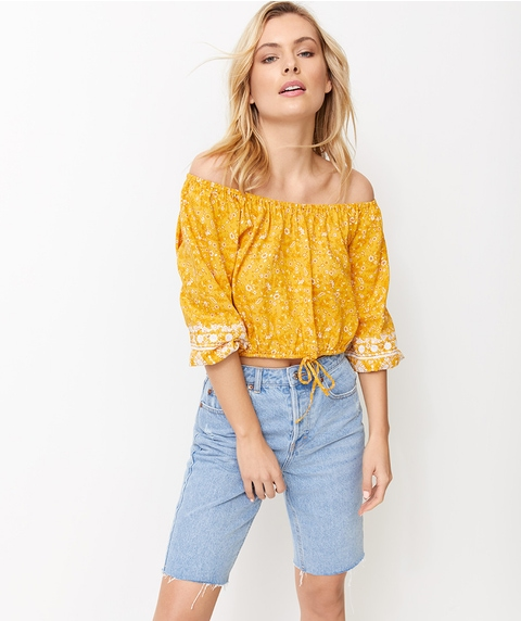 CUTWORK PAISLEY CO-ORD TOP