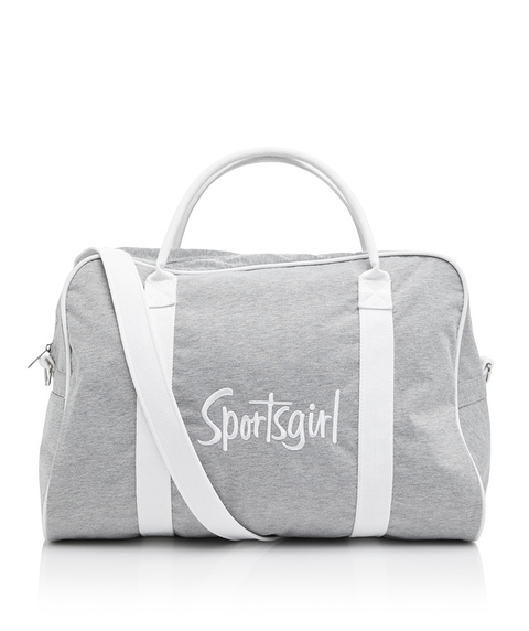 GREY MARLE EMBROIDERED DUFFLE BAG