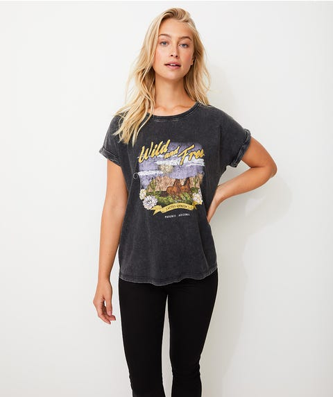 WILD AND FREE WASHED TEE