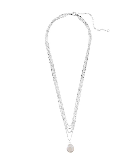 SILVER FINE CHAIN & PEARL NECKLACE PACK