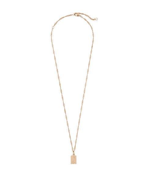 GOLD PORTRIAT PENDANT NECKLACE