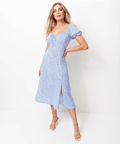 DITSY MILKMAID DRESS
