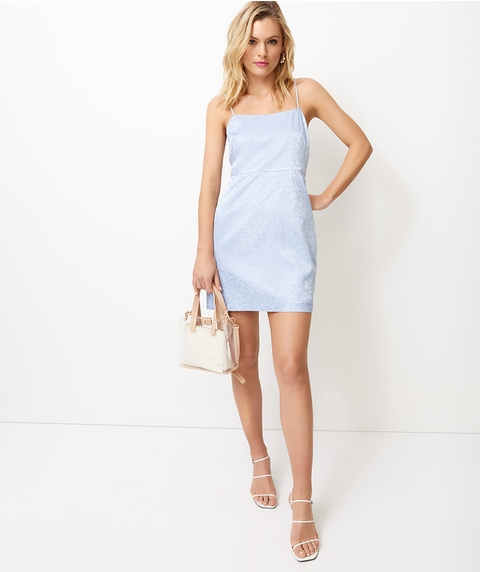 SATIN JACQUARD MINI DRESS