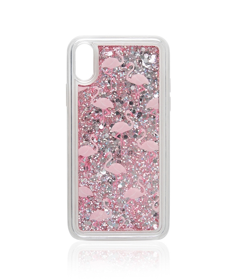 XR FLAMINGO GLITTER PHONE CASE