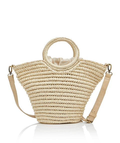 ELLIOT CIRCLE HANDLE WOVEN BAG