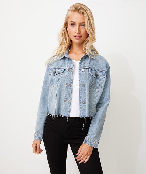 CUT OFF DENIM TRUCKER